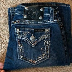 Miss Me jeans! Kids size 14, fits a women's 25!